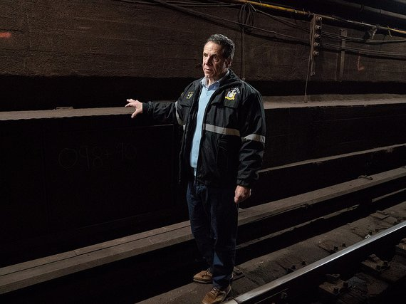 Governor Andrew Cuomo in the Canarsie Tunnel