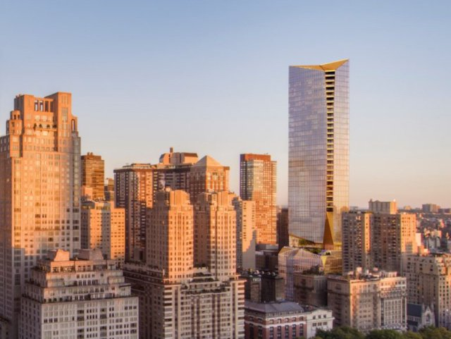 Rendering of 50 West 66th Street by architecture firm Snøhetta
