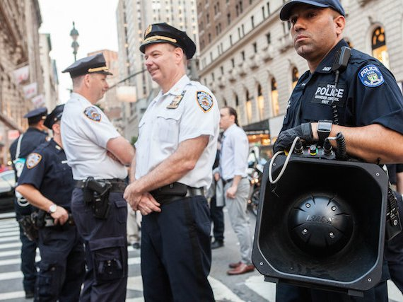 A portable LRAD noise cannon was used to suppress protesters on the one-year anniversary of Eric Garner's killing