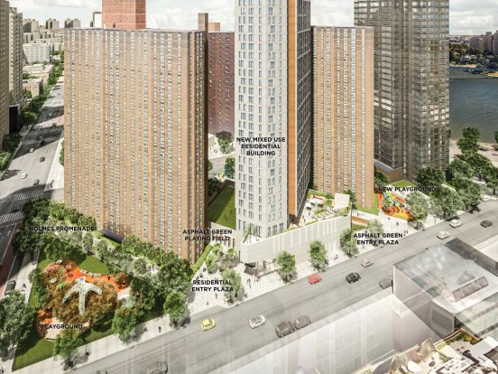 Rendering of Holmes project, a mixed-income apartment building, provided by NYCHA.