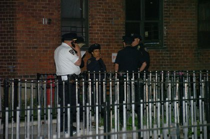 NYPD on the scene<br/>