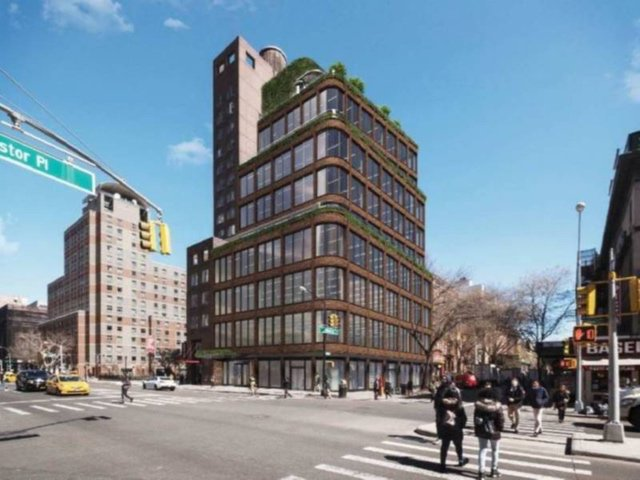 Rendering of proposed office building at 3 St. Marks Place