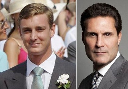 Prince Pierre Casiraghi at left, Adam Hock at right.
