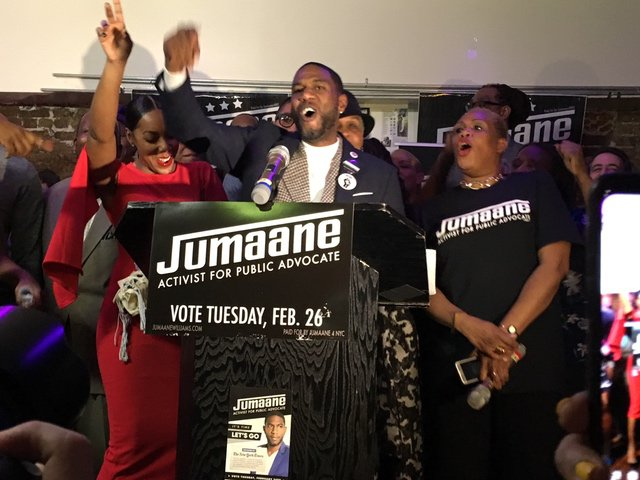 Williams on the night of his special election victory
