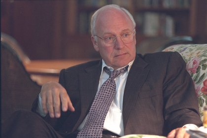 "At Camp David. From FRONTLINE: ""Cheney will soon announce from Camp David that the United States will have to work the ""dark side.""<br/>"