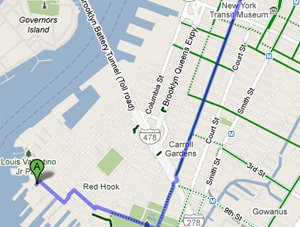 Google Maps Bike, Now in Beta, Is NOT Perfect, Post Declares ... on google car route, newspaper bike route, ups bike route, google headquarters bikes, google maps, google run route, google walking route,