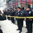 Police outside Bank of America
