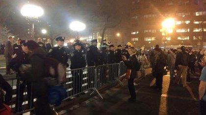Union Square last night after midnight.