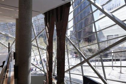Tridents in the museum's atrium<br/>