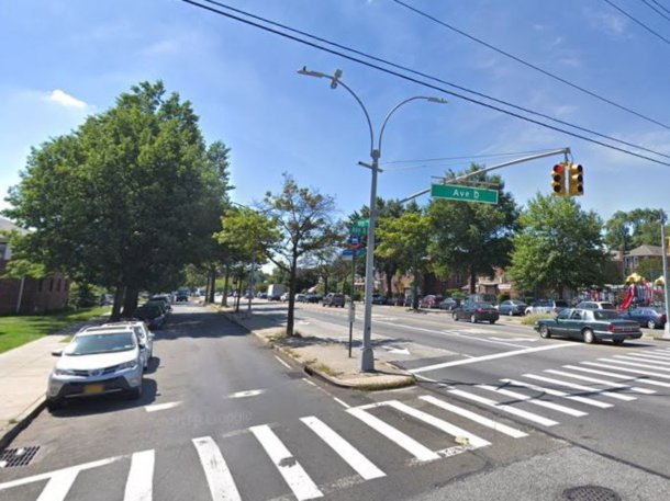 The intersection of Kings Highway and Avenue D
