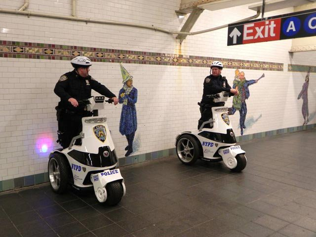 The roll out of sweet three-wheelers for transit cops has apparently not dissuaded officers from driving into the city.