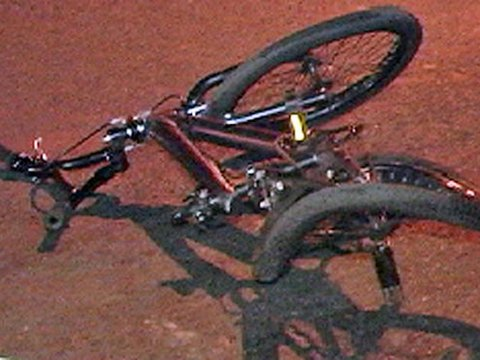 The bike of 18-year-old David Oliveras, who was killed by an SUV driver on Wednesday
