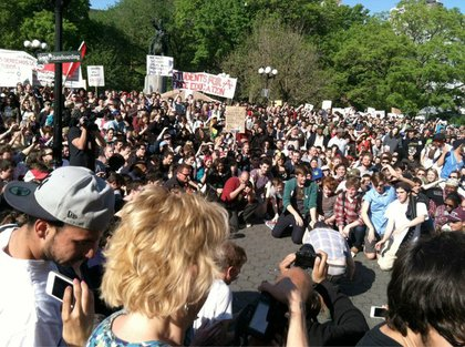 Dan Deacon brings the crowd to their knees.
