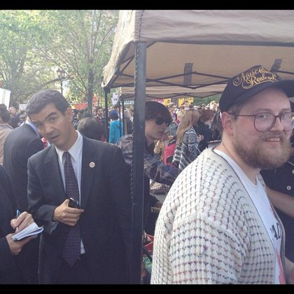 Dan Deacon and City Councilmember Ydanis Rodriguez