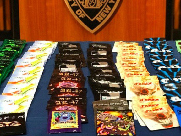 Some of the 1,068 packages of K2 recovered Thursday by the NYPD