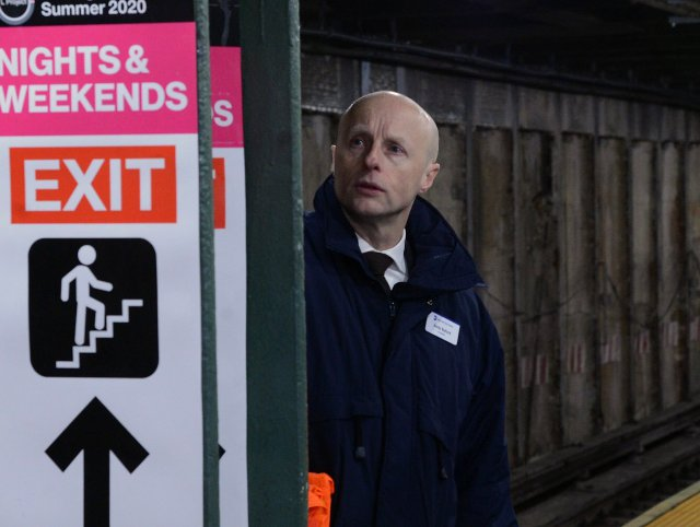 Andy Byford at the Bedford L train station at the end of April.