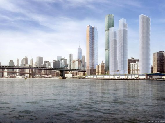 The proposed Two Bridges development.
