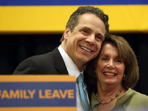 Cuomo and Pelosi, at a rally in 2016.