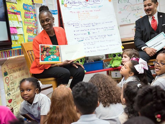 First Lady Chirlane McCray and Schools Chancellor Richard A. Carranza on Thursday.
