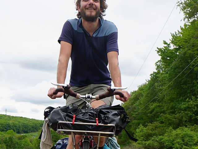 Bert Spaan, seen here cycling without incident in rural Pennsylvania.
