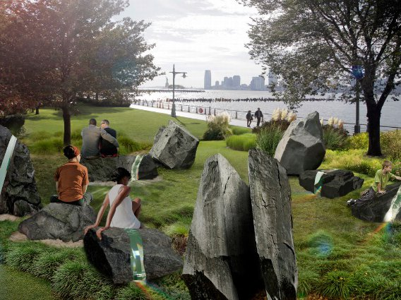 The Anthony Goicolea-designed monument, which will sit along the river in Hudson River Park.