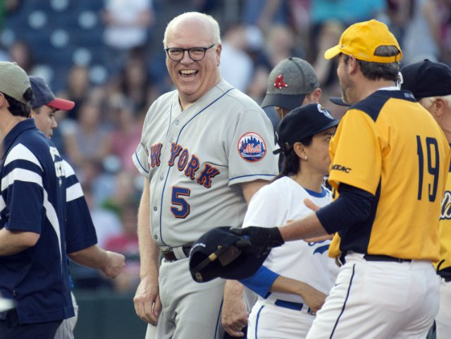 Rep. Joe Crowley with his colleagues before the 56th Annual Congressional Baseball Game for Charity.