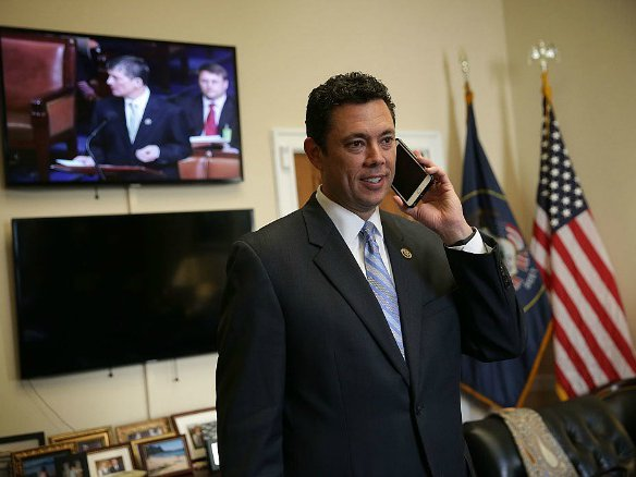 Jason Chaffetz, who has earned the right to use a smartphone, I guess.