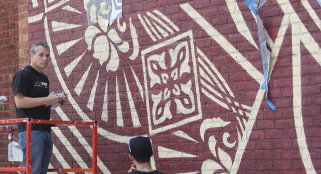 "Artist Shepard Fairey Surfaces In DUMBO: ""I'm One Of The Good Guys"""