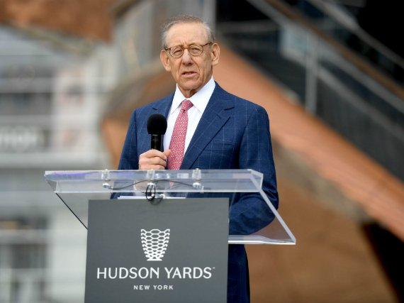 Stephen Ross speaks at the opening of Hudson Yards in March