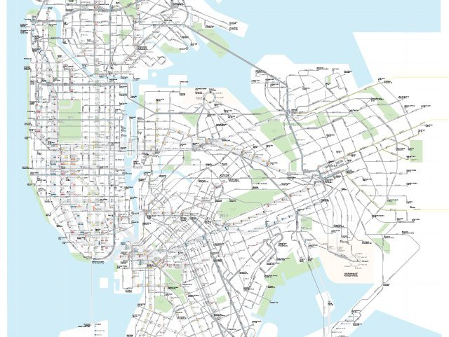 Map Brings NYC's Bus And Subway Lines Together - Gothamist