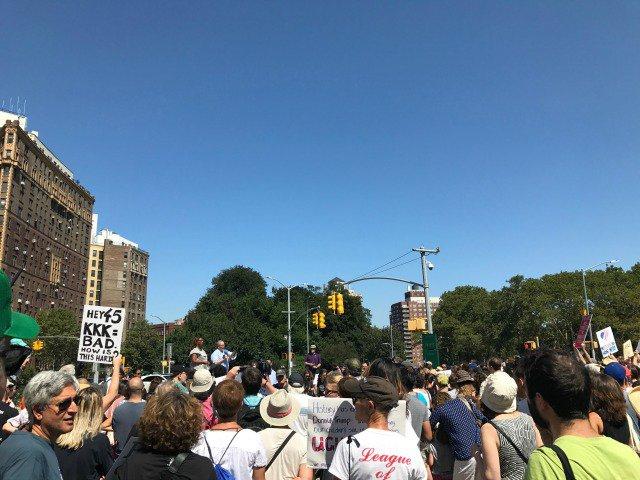 Sunday's rally at Grand Army Plaza
