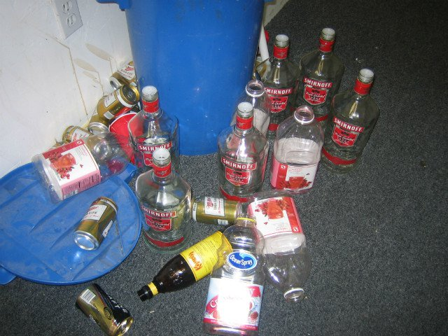 A 2005 photo of the aftermath of an unrelated fraternity party