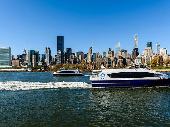 NYC Ferry in Midtown Manhattan