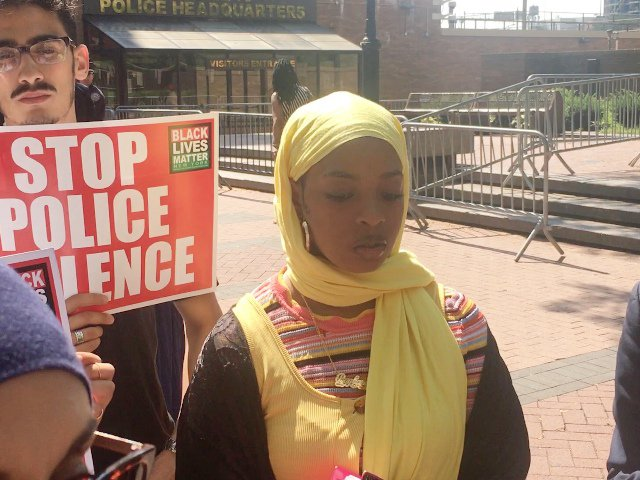 Rayhanah Alhanafi, who accuses the NYPD of excessive force and violating her religious freedom.