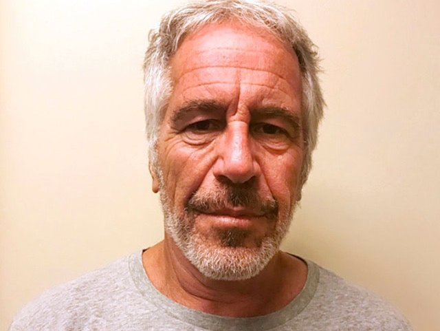 Jeffrey Epstein in a March 2017 mugshot SHUTTERSTOCK