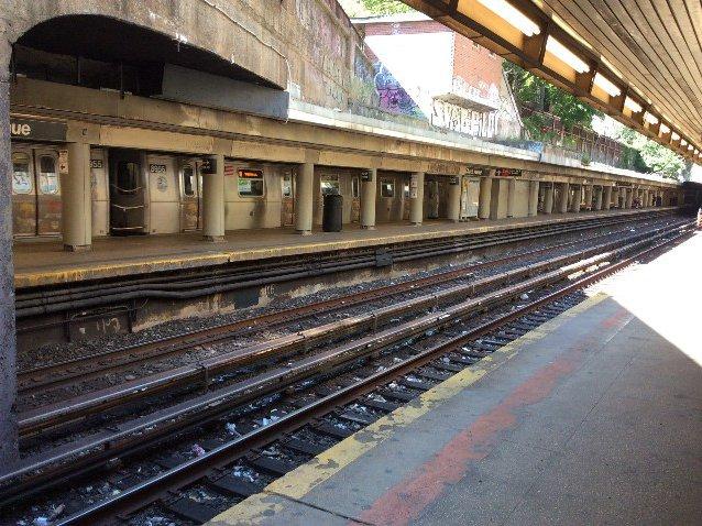The Church Avenue B/Q subway station, where Ann Marie Washington was attacked.