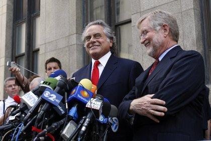 Strauss-Kahn's defense team speaks to the press.