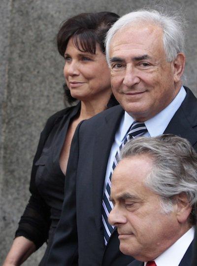 Strauss-Kahn and his wife, Anne Sinclair.