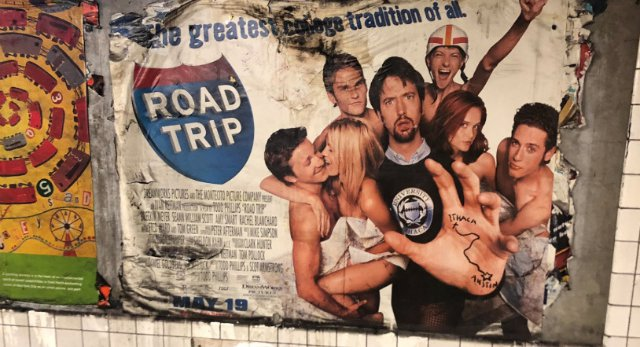 Ancient 'Road Trip' Movie Poster Uncovered In Brooklyn Subway Station