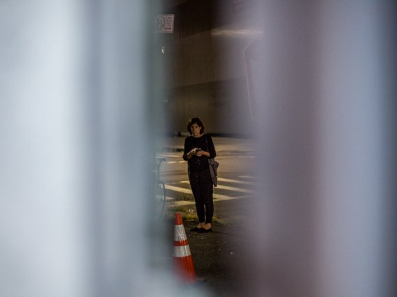 Kathleen Reilly outside of a Despers rehearsal on Saturday night.