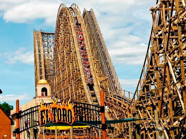 The famed El Toro, at Six Flags Great Adventure, which the accused potentially rode many, many times.