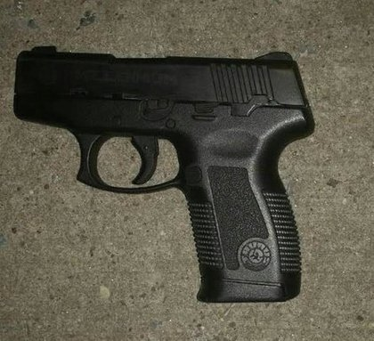 The gun recovered at the scene.