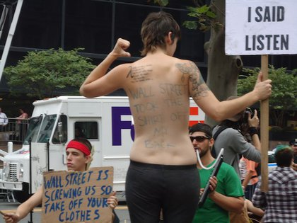 Wall Street took the shirt off her back.