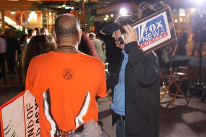 This man made us think for a brief moment that FOX News was on the scene