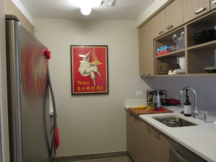 The kitchen in the Italian bachelor's one-bedroom (from $1,956)<br/>