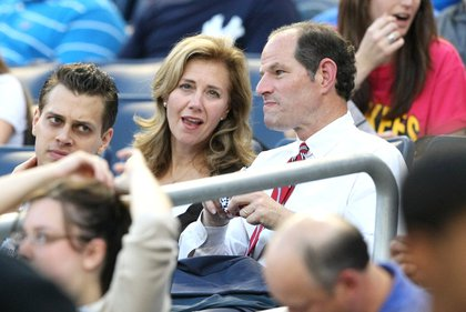 In 2009, the couple at a Yankees game.<br/>