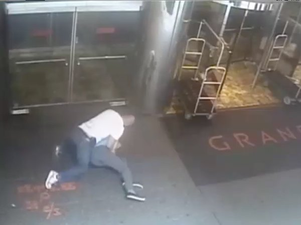 NYPD officer James Frascatore tackling James Blake in 2015