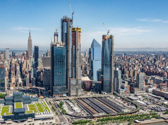 Hudson Yards in May of 2018