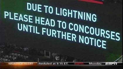 """""""Lightning Notice in Jets Stadium"""""""