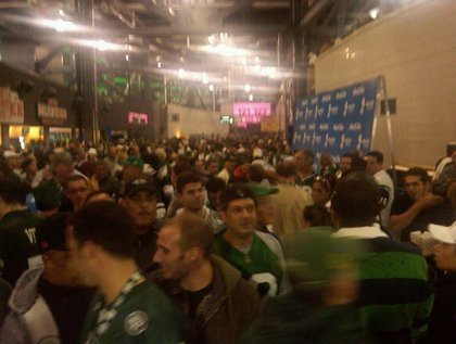 """""""Chaos at the #Jets game due to the lightning delay. #nfl"""""""